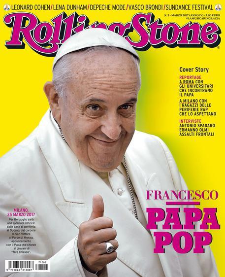 Papa Francesco in copertina su Rolling Stone - DA A. MAJOLI